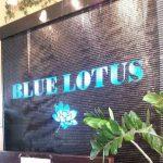 blue lotus fountain